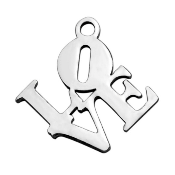 Stainless Steel Letter Charms LOVE Best Mom Faith Metal Charms For Mom Lovers Best DIY Making Craft Jewelry 30Pcs/Lot