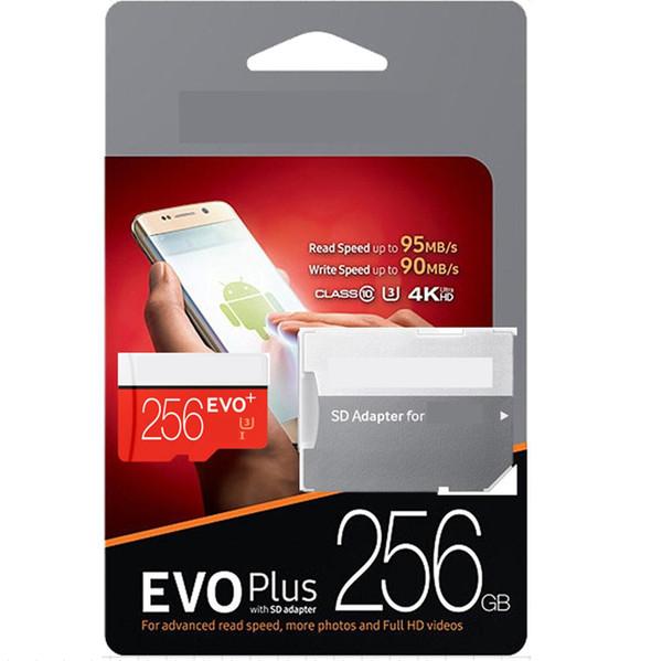 128 GB EVO Plus + 80 MB / S 95 MB / S Lesen Sie 20 MB / S 90 MB / S Class 10 Schnelle Geschwindigkeit Micro SD-Karte im Einzelhandel Paket mit Logo