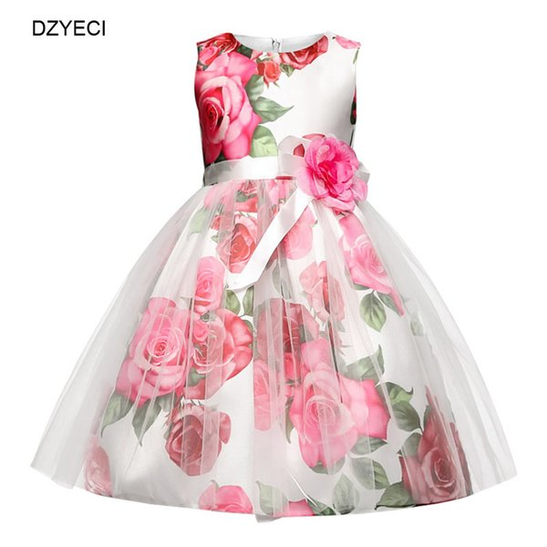 Fancy Floral Dresses For Baby Girl Costume Easter Children Bridesmaid Ceremony Prom Wedding Frock Kid Flower Party Pageant Dress