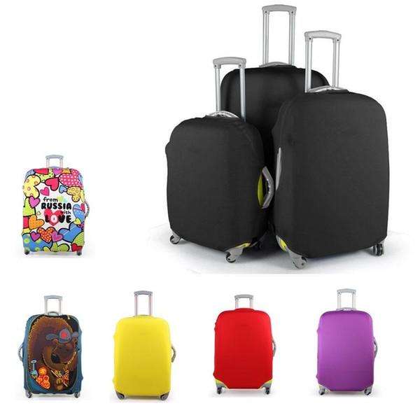 La funda protectora de la maleta del equipaje del viaje, estiramiento, hecho para 20,24,28inch, se aplica a los casos 18-30inch