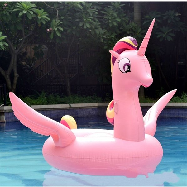 Hot Sale Originality Outdoor Water Play Inflatable Unicorn Mat Toy Summer Swimming Suplies Funny Game Beach Floating Row 95hm W