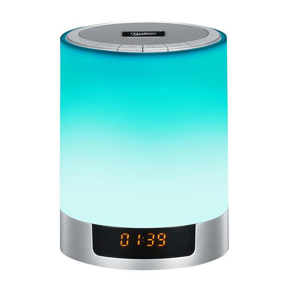 Card speaker nightlight wireless bluetooth speaker led colorful touch clock alarm clock speaker lamp