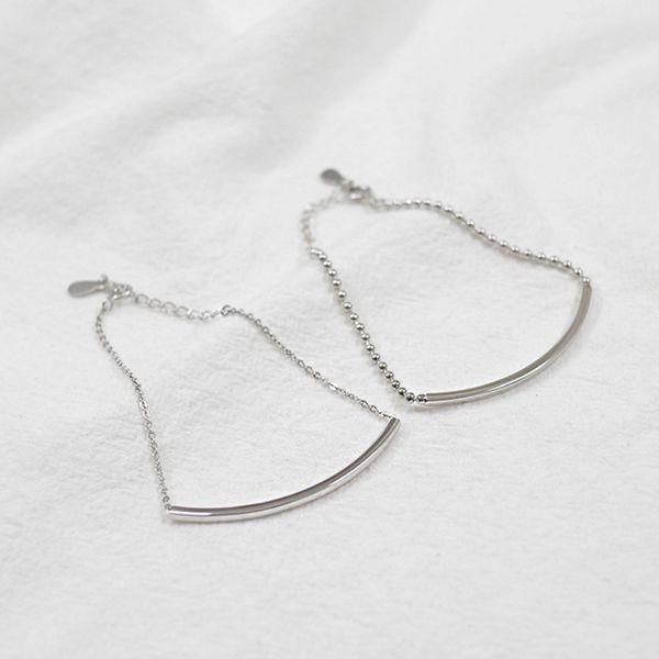 925 Silver Charm Chain Bracelet cross & round beads style women bracelets Jewelry Accessories European Style Beads Wholesale pulseras