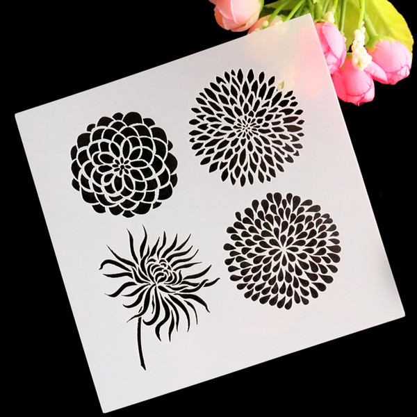 13*13cm Flower Cake Stencil Fondant Template Cake Decorating Mold Cookies Stencil Kitchen Accessories Baking Tool