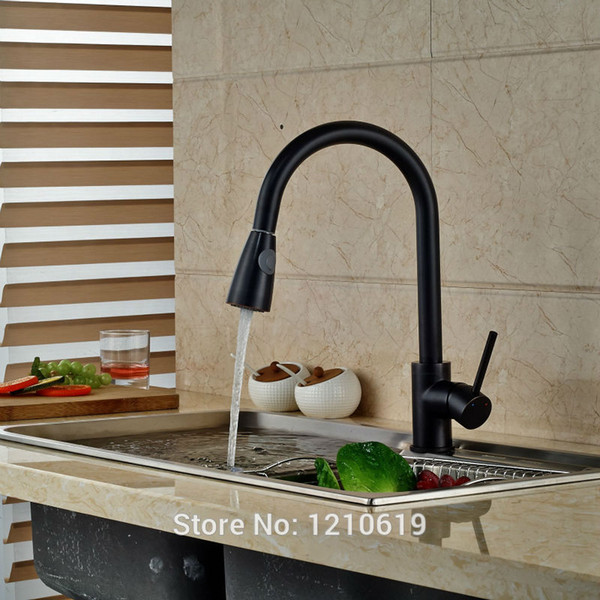 2019 Newly Oil Rubbed Bronze Kitchen Sink Faucet Mixer Tap Pull Down Basin Faucet Single Handle Single Hole From Sheiler 84 43 Dhgate Com