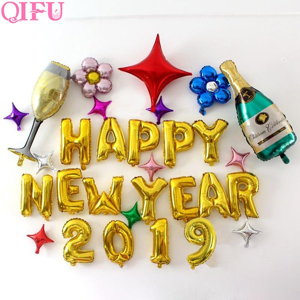 QIFU Happy New Year 2019 Balloons Merry Christmas Decorations For Home Xmas Decor Christmas Ornaments Christmas 2018 D18111202