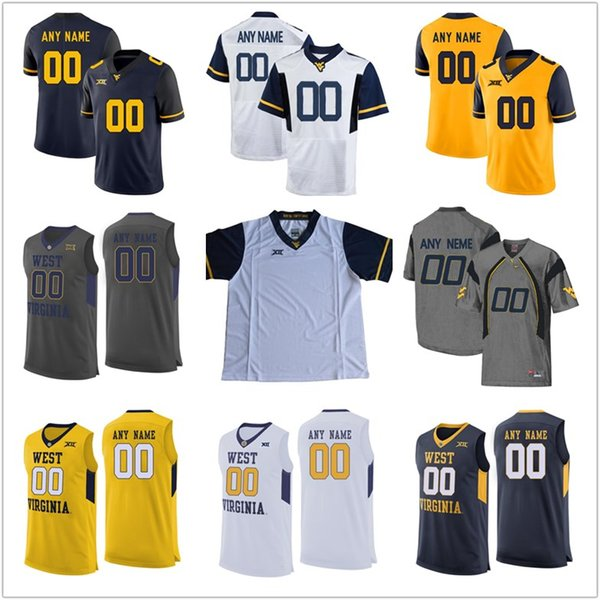sports shoes cd380 e7572 2019 NEW Mens Custom WEST VIRGINIA MOUNTAINEERS College Football Jerseys  Quinton Spain BLUE White Yellow Stitched Personalized Basketball Jerseys  From ...