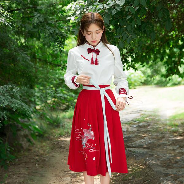 Han Kostüm Verbesserung Tang langen Ärmeln kaiserlichen Konkubine Kostüm Prinzessin Brust cos Kleid