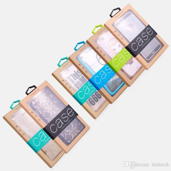 Universal Mobile Phone Case Retail Packaging PVC Box for iPhone 8 7 6S Plus X XS MAX XR Cases Paper Package Boxes
