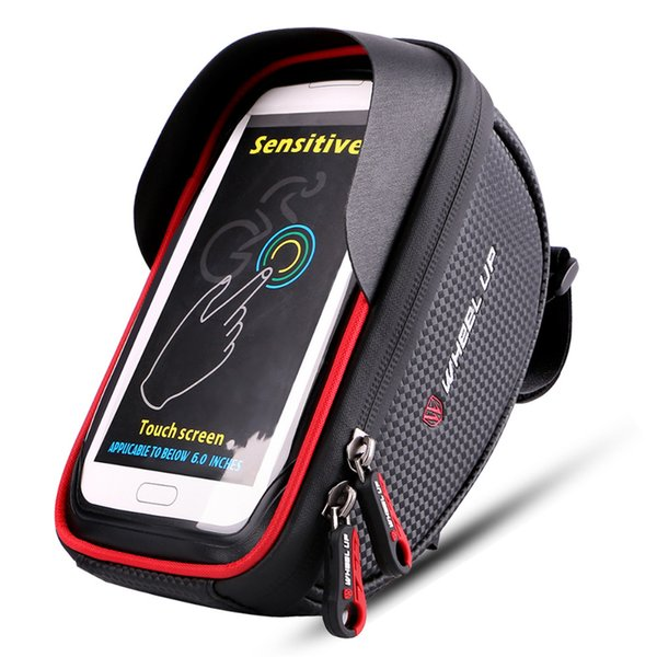 WHEEL UP Waterproof Sport Bike Front Tube Cycling Riding Bag 6.0 inch Mountain Touch Screen Pouch top Handlebar Cellphone bag