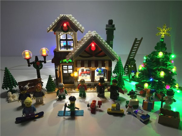 Lego Christmas Set 2019.2019 Led Light Set For Creator Winter Village Toy Shop Compatible With Lego 10249 Building Block Christmas Light From Fried 55 35 Dhgate Com