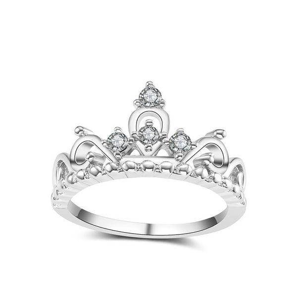 NAIQUBE 2018 New Classic Fashion Crown Lover anello nuziale gioielli dito per le donne regalo del partito