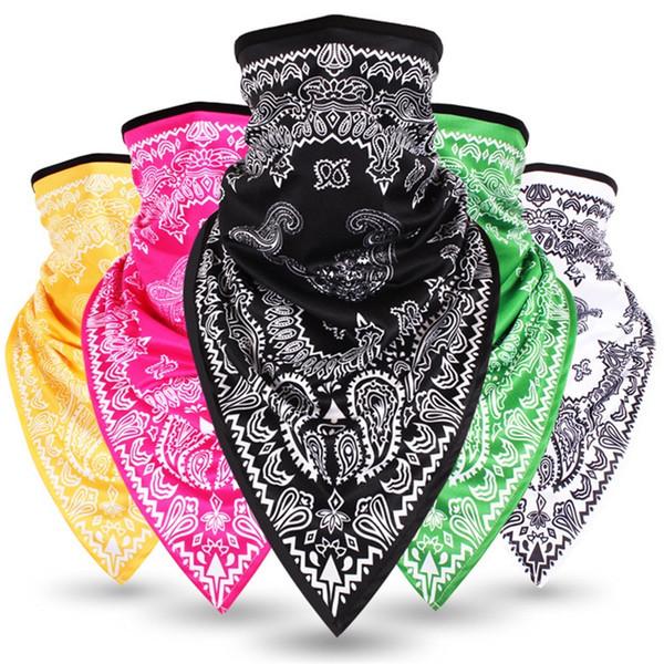 Half Face Mask Neck Sleeve Trend Hip Hop Bandanna Outdoors Riding Trigonometric Towel Fashion Hot Sale 9 5bx V