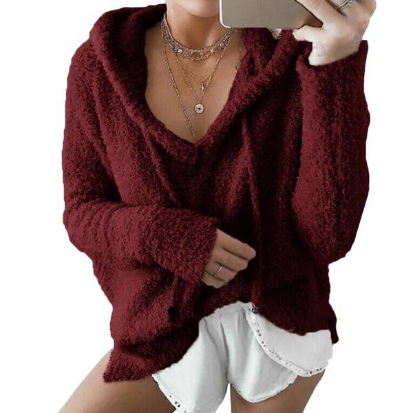 Women Winter Flannel Hoodie Warm Drawstring Hooded Sweatshirt Harajuku Faux Fur Outwear Hoodies Casual Sudaderas Mujer 2017