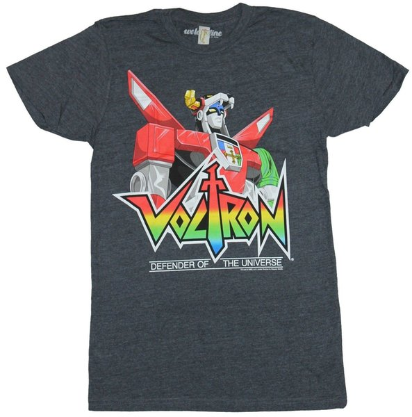 8081cd159 Voltron Mens T-Shirt - Defender of the Universe Head And shoulders Over Logo