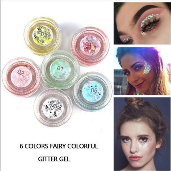 HANDAIYAN Shine Shimmer Eyeshadow Gel Makeup Glitte body art glitter gel face eye tattoo powder DHL free shipping