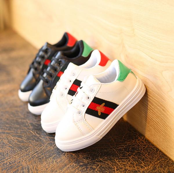 Primavera 2018 zapatos para niños nuevos zapatos planos blancos coreanos niños ocasionales antideslizantes zapatos deportivos para estudiantes envío gratis