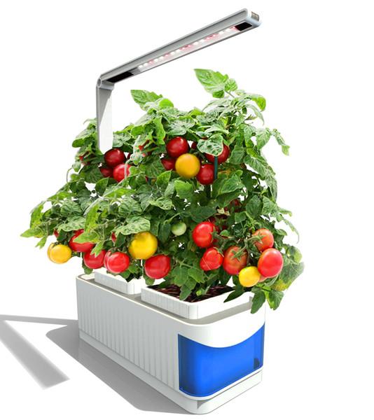 CLAITE LED Grow Lights Indoor Vollspektrum Pflanzenlampe Herb Hydroponics Plants Garden Kit Lampe Einstellbarer Lampenhebel Planting