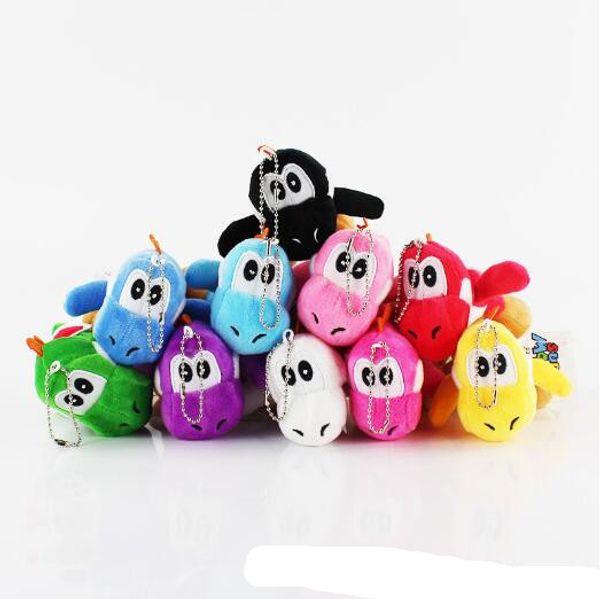 "Super Mario Bros Yoshi Plush Anime 4"" Keychain colors Plush doll Dinosaur Dragon Plush Toys Stuffed Dolls Kids Toys Animals free shipping"