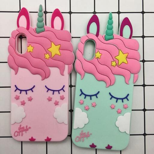 3D Cartoon Eyelash unicorn horse Cat phone case Soft Silicone Rubber Cover For iPhone XR XS Max X 8 7 Samsung S9 S10 Plus