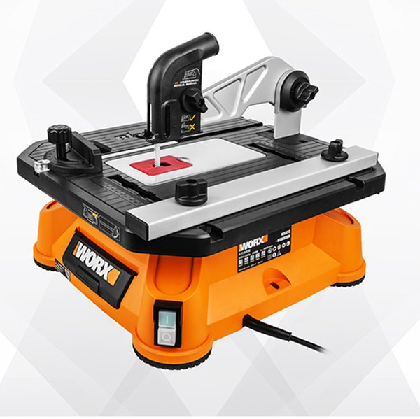 top popular Multifunctional sliding table saw WX572 jig saw miniature small chainsaw woodworking home decoration power tools 2021