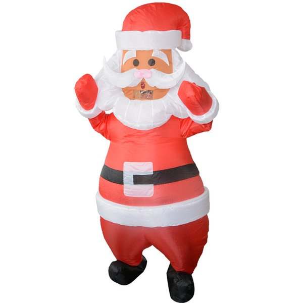 Santa Claus Inflatable Costumes Christmas Anime Costume for Women Man Adult Holiday Party Inflated Garment Mascot WSJ-40