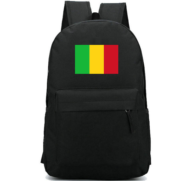 Mali flag backpack Nice country day pack Red green yellow banner school bag Casual packsack Good rucksack Sport schoolbag Outdoor daypack
