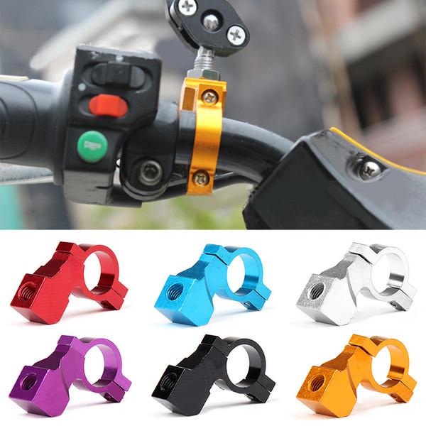 1 PCS 10 MM Moto Miroir Rétroviseur Titulaire de la Bicyclette De Remise À Neuf Accessoires Mirroir Monte Fixe Café Racer