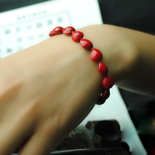 Wholesale-women ethnic bracelet&bangle,new red beans vintage bracelet gift lovely,fashion turquoise jewelry charm beaded bracelt