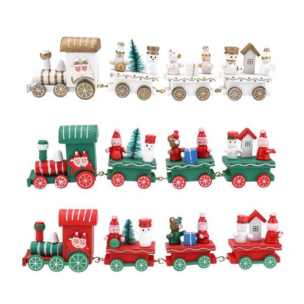 2017 Date Mini Noël Train En Bois De Noël Cadeau Innovant Kid jouets pour Enfants Cadeaux Diecasts Jouet Véhicules