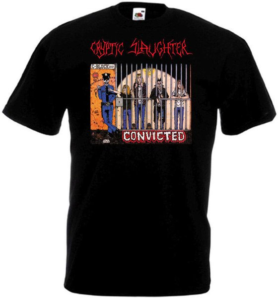 T Shirt Quotes Men\'S Best Friend O Neck Cryptic Slaughter Convicted T Shirt  Black Poster All Sizes S To 3XL Short Sleeve Shirts Limited T Shirts 24 ...