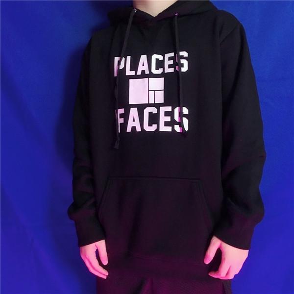 Palaces + Faces Lettera Logo Stampa con cappuccio Maglione Retro High Street Moda Hip Hop Uomo e donna Coppia Velluto con imbottitura Maglione HFSSWY128