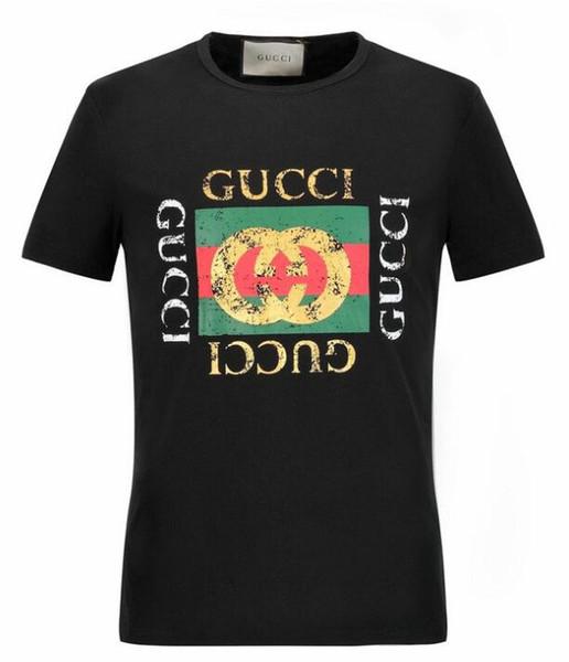 18ss Europe et les États-Unis nouvelle tendance de la mode impression T-shirt veste décontractée T-shirt à manches courtes