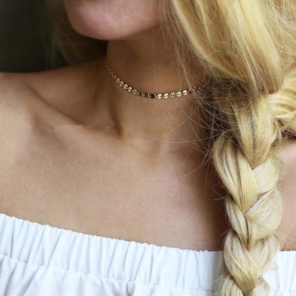 ganzer VerkaufNeueste Modeschmuck Zubehör Böhmen Gold Silber Runde Quaste Tattoo Choker Halskette für Paar Liebhaber 'N233
