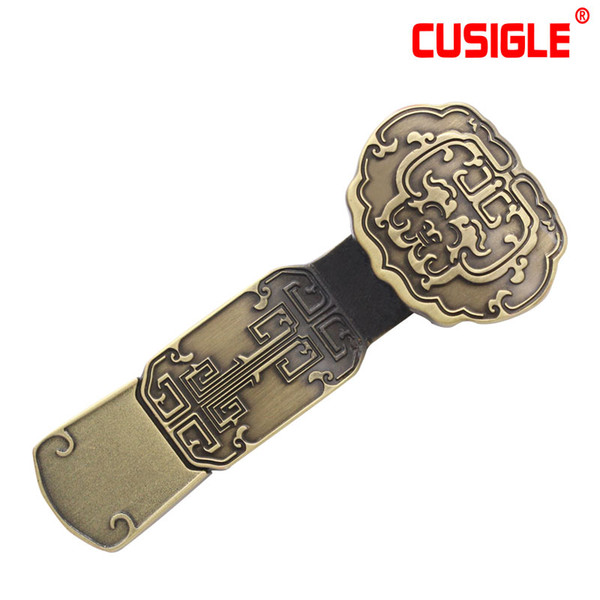 Regalo del negocio del estilo chino Metal Stick USB Flash Drives Popular16GB 32GB 64GB 128GB 256GB para CUSIGLE