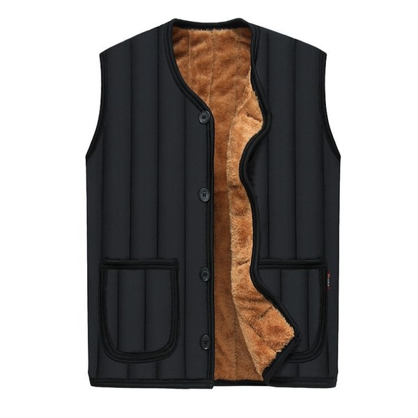 2017 Jacket Men Sleeveless Veste homme winter fleece vest coat for men good quality striped warm mens waistcoat vest