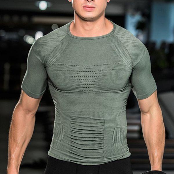 Body Shaper T-shirt Posture Gynecomastia Boobs Control Abdomen Belly Trimmer Compression Tshirt Slimming Shapewear Corsets