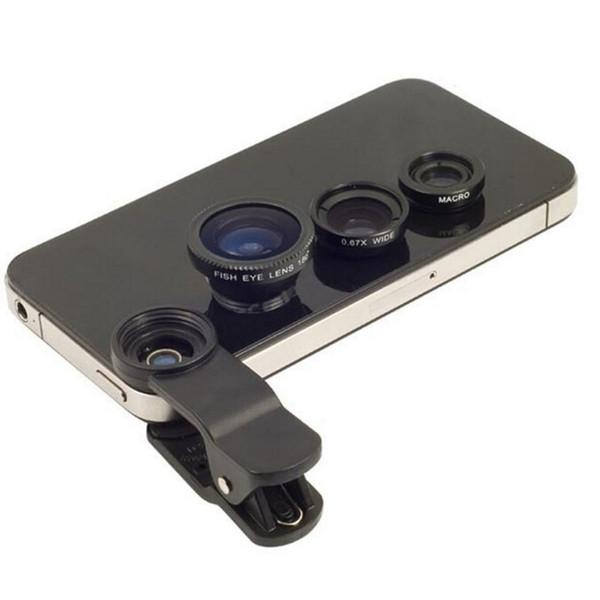 3 in 1 Fischaugen Objektiv für Huawei Ehre 2 U9508 Ehre 3 4C 4X5 5A LYO-L21 6X7 8 V8 Fisheye Objektive