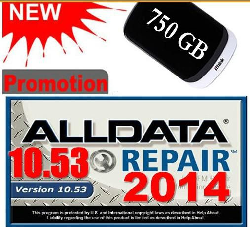 Auto Repair Software ALLDATA 10.53 ALL DATA Car Repair Software with USB 3.0 750GB Hard Disk Hard Drive Diagnostic Tool
