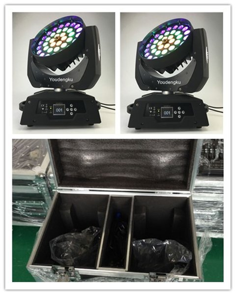 best selling 2 pieces with flightcase Robe Robin 600 6in1 RGBWAUV 36x18w LED Moving Head Wash Zoom light With Ring Shape Effect