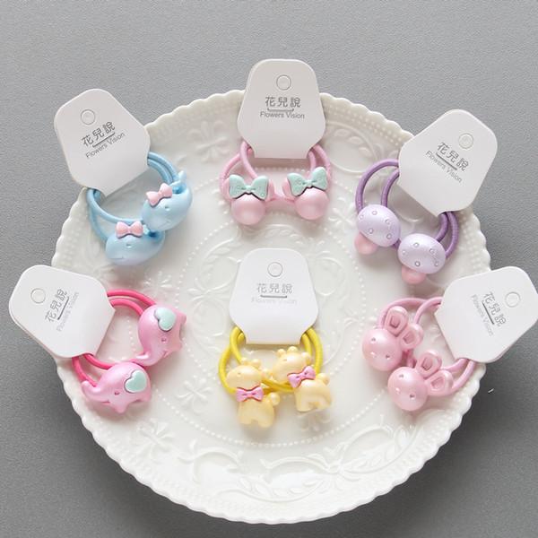 2PCS Cartoon Animal Mushroom Princess Headwear Kids Elastic Hair Bands Baby Headdress Children Hair Ropes Girls Accessories