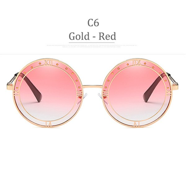 C6 Gold Frame Gradient Red