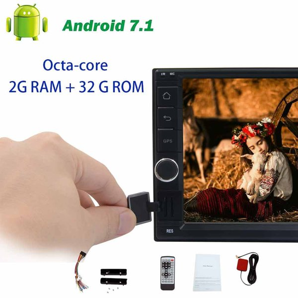 Android 7.1 Octa-core GPS Navigation on-board computer BT Head Unit Double din Car no DVD Player support Steering wheel control USB/SD