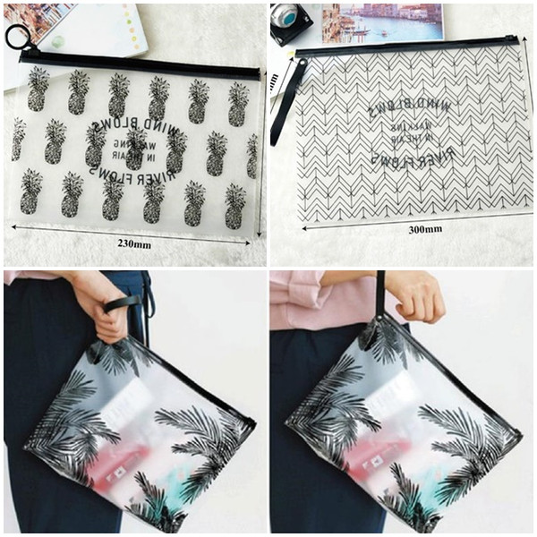 Hot Clear Makeup Bags PVC Waterproof Toiletry Cases Travel Organizer Bath Wash Bag Pouch Pencil case