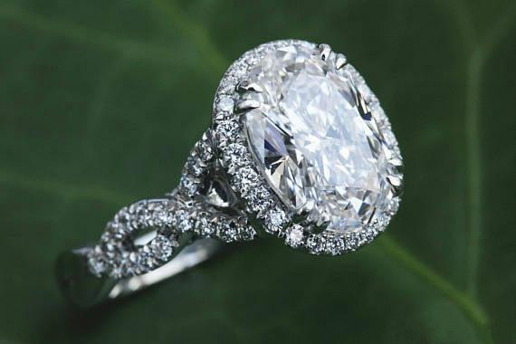 Deluxe Fashion 925 Sterling Silver Oval Halo Diamond Engagement Engagement Princess Princess Bridal Ring Size 6-10