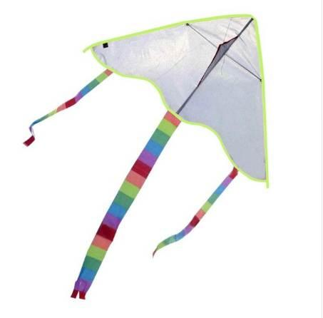 Novelty Diy Painting Kite Interesting Outdoor Spring Travel Nylon Triangle Kite Flying Gadget Kids Parents Interactive Aid