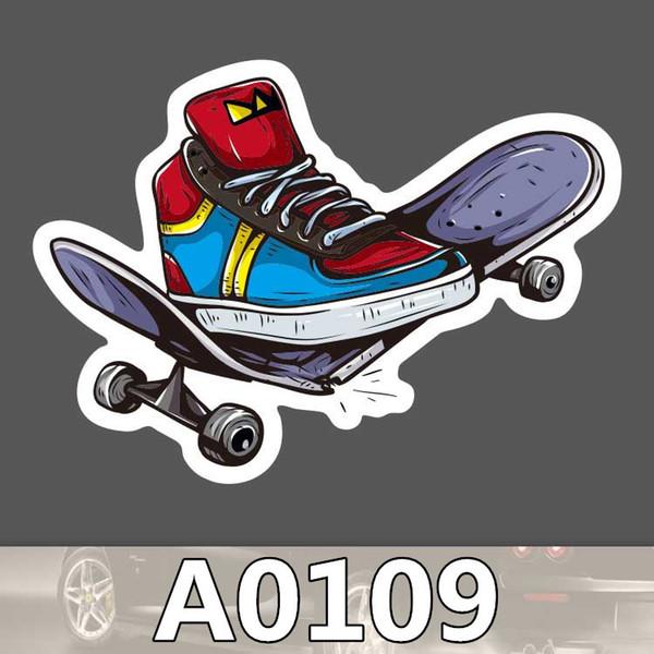 Popular Skate Skateboard Brand Sticker Waterproof for Car Skateboard Motorcycle Bicycle Luggage Laptop Stickers Bumper Graffiti Decals 2