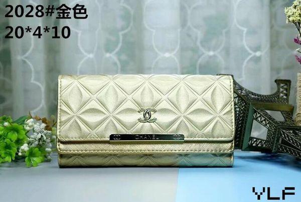 Wholesale Luxury famous classic standard wallet organizer long purse money bag zipper pouch coin pocket note compartment clutch