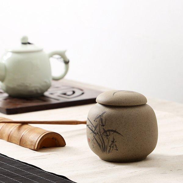 Scatole di immagazzinaggio di piccole cose Scatola di tè Scatole di ceramica Scatola di tè Jar 8,3x8cm Scatola di barattolo di spezie Scatola metallica di galateo