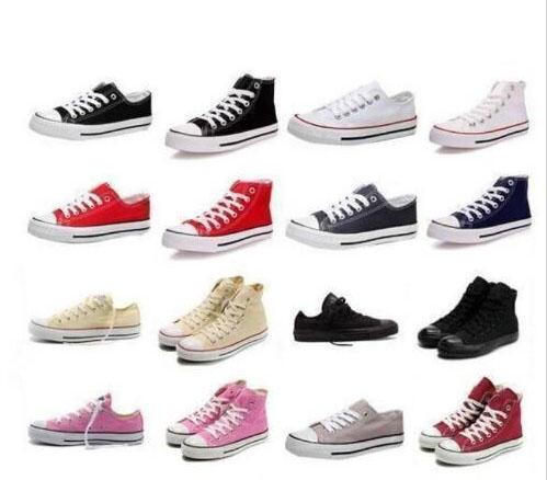 Fast shipping size 35-45 Factory price promotional price!femininas canvas shoes women and men,high Low Style Classic Canvas Shoes Sneakers